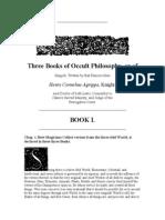 Three Books of Occult Philosophy Book 1 - Agrippa