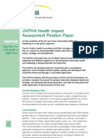 UKPHA Health Impact Assessment Position Paper