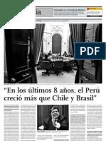 En los últimos 8 años Perú creció más que Chile y Brasil