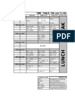 Timetable Sem I
