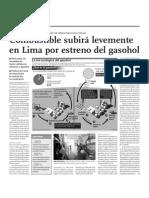 Combustible subirá levemente en Lima por estreno de gasohol