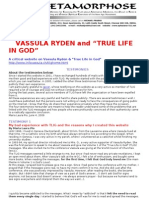 Vassula Ryden Testimonies