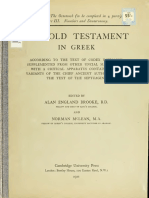 Booke, McLean, Thackeray. The Old Testament in Greek according to the text of Codex vaticanus. 1906. Volume 1, Part 3.