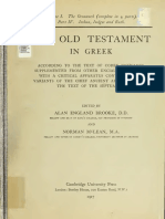 Booke, McLean, Thackeray. The Old Testament in Greek according to the text of Codex vaticanus. 1906. Volume 1, Part 4.