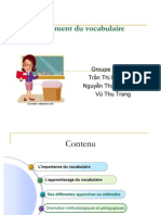 L'enseignement du vocabulaire