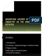 Advantage Gained by the Industry in the Industrial