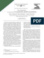 Interpretation of Postmortem Alcohol Concentrations 2005 For