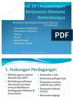 Bab 16 Kerjasama Ekonomi Antarabangsa