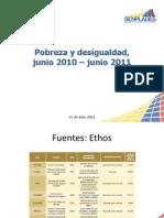 Pobreza y desigualdad jun-2010 jun-2011