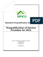 Pre Qualification Document