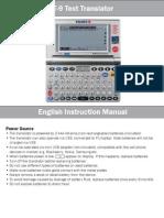 User Manual T 9 D-8 Models