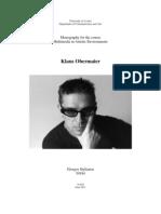Klaus Obermaier Monography