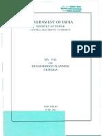 Manual on Transmission Planning Criteria