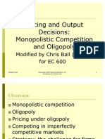 Ch09 Pricing & Output MonopComp & Oligop