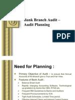 Bank Branch Audit –Audit Planning