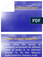Issues in Bank Branch Audit