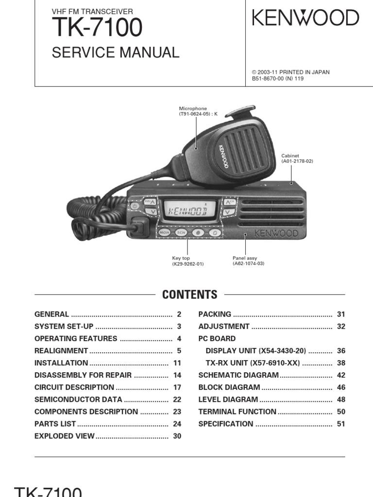 tk 7100 service manual amplifier electrical connector. Black Bedroom Furniture Sets. Home Design Ideas