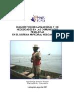 DIAGNÓSTICO ORGANIZACIONAL Y DE NECESIDADES EN LAS COMUNIDADES PESQUERAS EN EL SISTEMA ARRECIFAL MESOAMERICANO