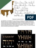 origen de YAHWEH