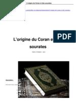 L'origine du Coran et des sourates