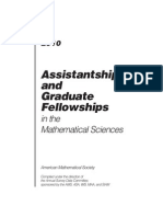 Asisstantships and Graduate Fellowships