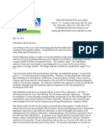 Greater Edmonton Alliance letter