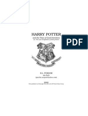 Fanfiction: Harry Potter Time of Good Intentions (Book6