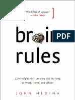 Brain Rules by John Medina (Exercise Chapter)