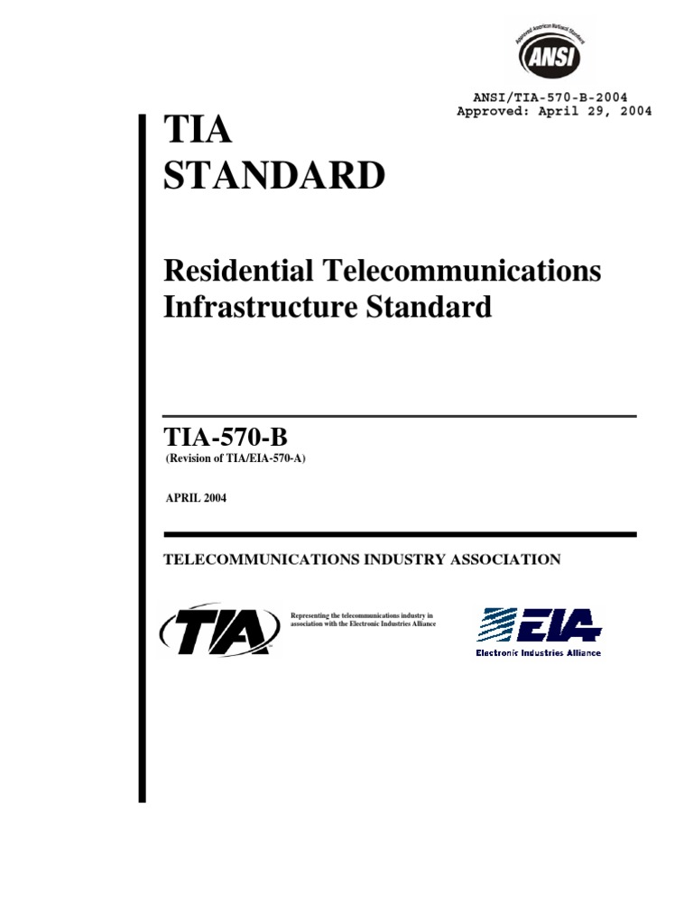 570B Residential Telecommunications Infraestructure Standard | Electrical  Connector | Cable