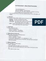 Basic Word Processing