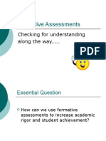 Formative Assessment Reading and LA