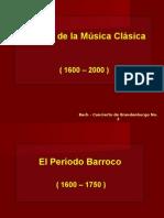 Historia de La Musica Clasica 1600-2000