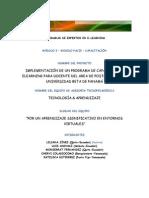 IMPLEMENTACIÓN DE UN PROGRAMA DE CAPACITACIÓN ELEARNING  GRUPO E  2011