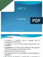 Unit v Sampling