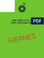 HSE DIRECTIVE 11 SAFE JOB ANALYSIS