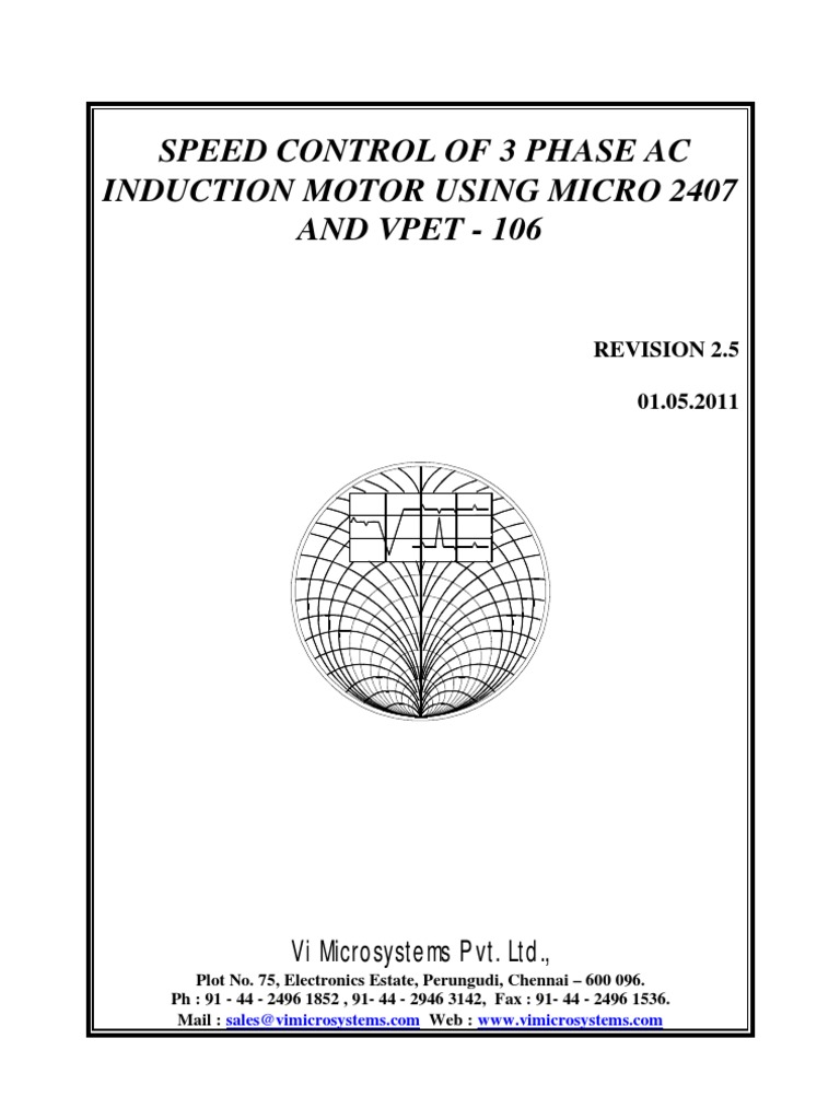 Speed Control Of 3 Phase Ac Induction Motor Using Micro 2407 Stator Voltage Three Fed By Electric Rectifier