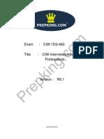 Prepking 1D0-460 Exam Questions