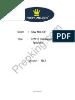 Prepking 1D0-541 Exam Questions
