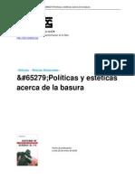 Politicas y Esteticas Acerca de La