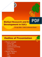CHED-SUC R and D Biodiesel Program