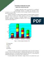 Conversia Energiei Solare. Efectul Fotovoltaic