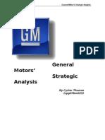 7456626 General Motors Strategic Analysis