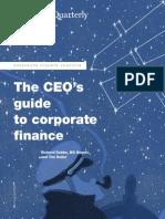 CEO & Corporate Finance