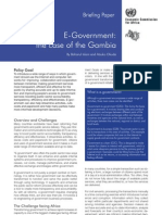 E-Government_the Case of the Gambia - UNECA Briefing Paper