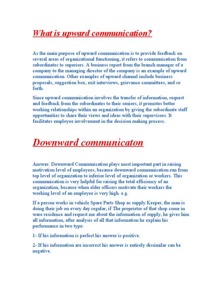 manager subordinate communications