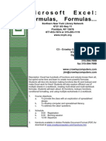 Formulas Outline