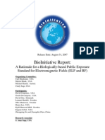 BioInitiative Report - A Rationale for a Biologically-based Public Exposure Standard  for Electromagnetic Fields (ELF and RF)