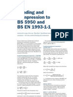 Bending and Compression to BS 5950 and BS en 1993-1-1