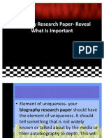 Biography Research Paper- Reveal What is Important