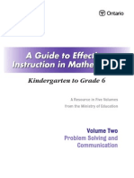 Guide Math K 6 Volume 2